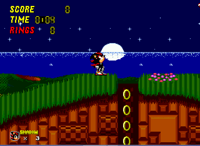 Sonic 2 - Project Shadow - enjoing the midnight moon - User Screenshot