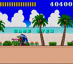Super Adventure Island - game over - User Screenshot