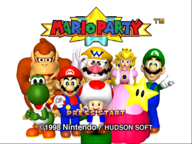 Mario Party - Introduction  - blank title screen - User Screenshot