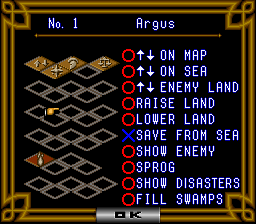 Populous II - Trials of the Olympian God - Mission - User Screenshot