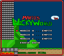 Super Mario Wacky Worlds - Star World (demo) -  - User Screenshot
