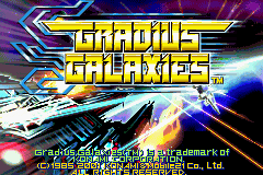 Gradius Galaxies - Title screen - User Screenshot