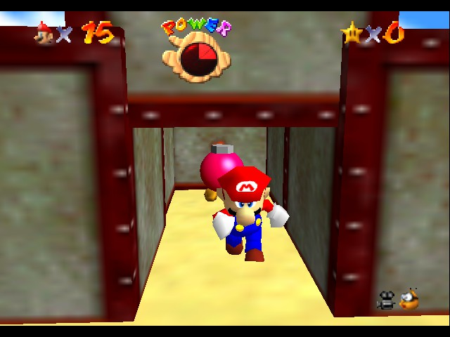 Kaizo Mario 64 - Better run, before the fire comes! - User Screenshot