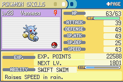 Pokemon Fire Red - Character Profile Pokemon Stats - Horsea! My horsea! - User Screenshot