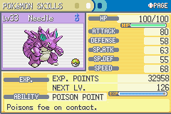 Pokemon Fire Red - Character Profile Pokemon stats - Nidoking! - User Screenshot