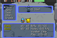 Pokemon Mystery Dungeon - Red Rescue Team - Battle  - AHA! - User Screenshot