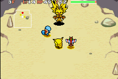 Pokemon Mystery Dungeon - Red Rescue Team - Battle  - My weedle fainted on Mt thunder peak F1  - User Screenshot