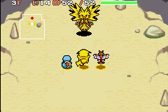 Pokemon Mystery Dungeon - Red Rescue Team - Battle  - My partner Got killed by zapdos so we Retry - User Screenshot