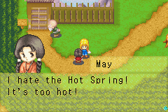 Harvest Moon - More Friends of Mineral Town - Goddess forbid the Hot Springs are hot - User Screenshot