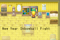 Harvest Moon - More Friends of Mineral Town - I never heard of a Snbowball fight before - User Screenshot