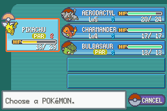 Pokemon Kohaku Adventures - old team - User Screenshot
