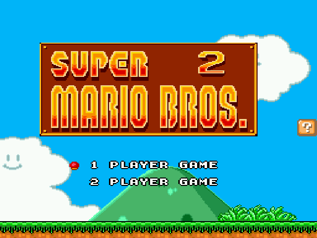 Super Mario Bros II 1998 (hack) - Title (first Screenshot!) - User Screenshot