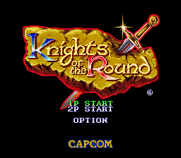 Knights of the Round - Introduction  - KotR Title Screen - User Screenshot