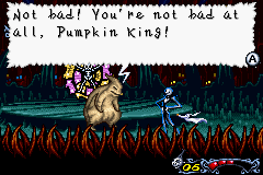 Round 1 goes to the Pumpkin King!