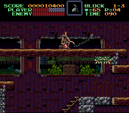 Super Castlevania IV - this looks somewhat awkward don