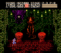 Ninja Gaiden II - Battle  - First form Jacquio - User Screenshot