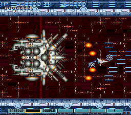 Gradius III - Battle  - Spaceship Gauntlet Battle #1 - User Screenshot