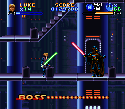 Super Star Wars - Return of the Jedi - Battle  - Darth Vader Battle - User Screenshot