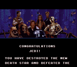 Super Star Wars - Return of the Jedi - Ending  - Final Scene - User Screenshot