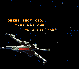 Super Star Wars - Ending  - I destroyed the death star - User Screenshot