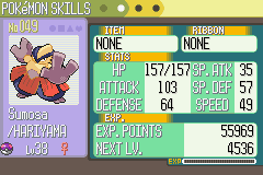 Pokemon Sapphire - Character Profile  - Master Ball used. No regrets! - User Screenshot