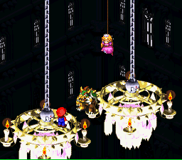 Super Mario RPG - Legend of the Seven Stars - Bowser: Mwahahahaha! I can levitate! Hahaha! - User Screenshot