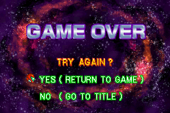 Metroid Fusion - Gameover  - Game over screen. - User Screenshot
