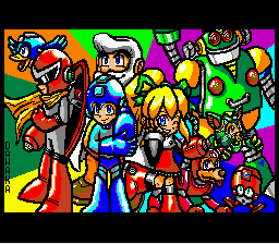 Mario Paint - Misc  - Oct 2015 Mario Paint Contest: Mega Man - User Screenshot