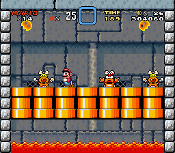 Super Mario World - Battle  - Castle #6 Boss: Wendy O. Koopa - User Screenshot