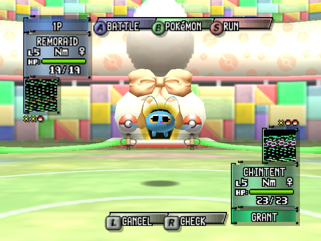 Pokemon Stadium 2 - a chinchou with sun glasses - User Screenshot