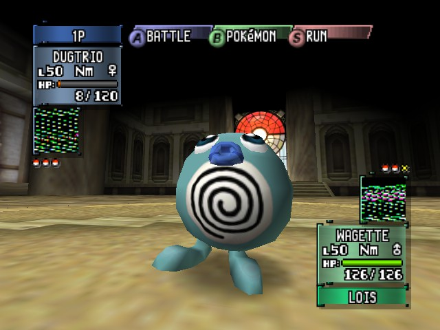 Pokemon Stadium 2 - its a shiny poliwag and blue lips - User Screenshot