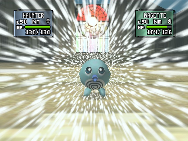 Pokemon Stadium 2 - shiny poliwag pawns my haunter - User Screenshot