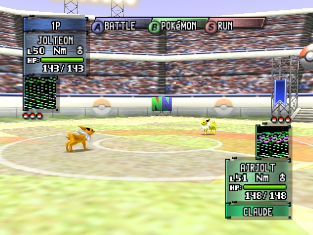 Pokemon Stadium 2 - Battle  - Shiny vs Normal - User Screenshot