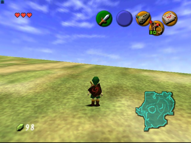 Legend of Zelda, The - Ocarina of Time - Location  - end of the world - User Screenshot