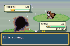 Pokemon Creepy Black (demo v0.05 final) - well i just got hited by thunder - User Screenshot