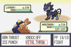 Pokemon Snakewood - Battle  - HAX - User Screenshot