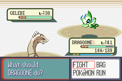 Pokemon Snakewood - Battle  - Celebi :o - User Screenshot