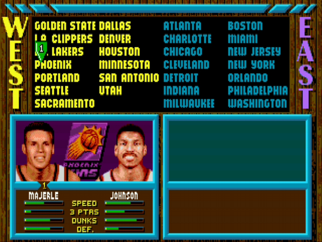 NBA Jam - all the teams in the game - User Screenshot