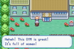 Pokemon Leaf Green - ...You are a dirty old man.... - User Screenshot