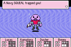 Mother 3 (english translation) - Battle  - lol do they have SQUBMARINES too? - User Screenshot