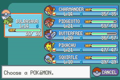 Pokemon Ash Gray (beta 3.61) - my first 6 - User Screenshot