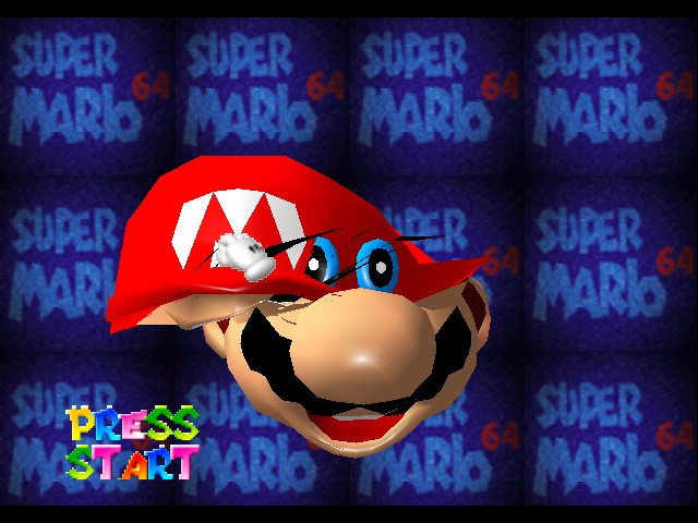 Super Mario 64 - Cut-Scene  - i took your hat where did your face go - User Screenshot