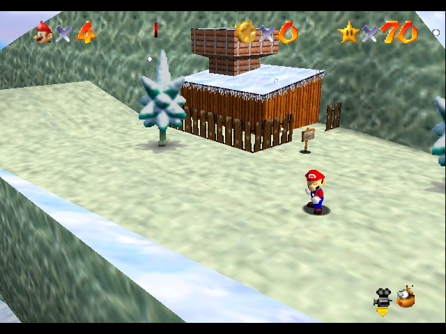 Super Mario 64 - Level Cool, Cool Mountain - you know me cool as a cucumber - User Screenshot