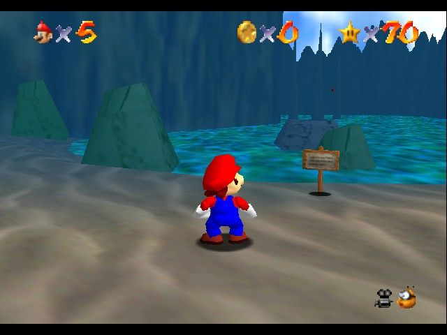 Super Mario 64 - Level Jolly Roger Bay - is this your first time swimming - User Screenshot