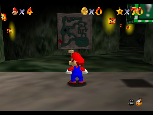 Super Mario 64 - Level Hazy Maze - i almost beat this one all the way - User Screenshot