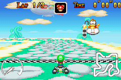 Mario Kart - Super Circuit - Level Sky Garden - My favorite level in this game by far - User Screenshot