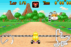 Mario Kart - Super Circuit - Level Lakeside Park - Such a similar name to Riverside Park :S - User Screenshot