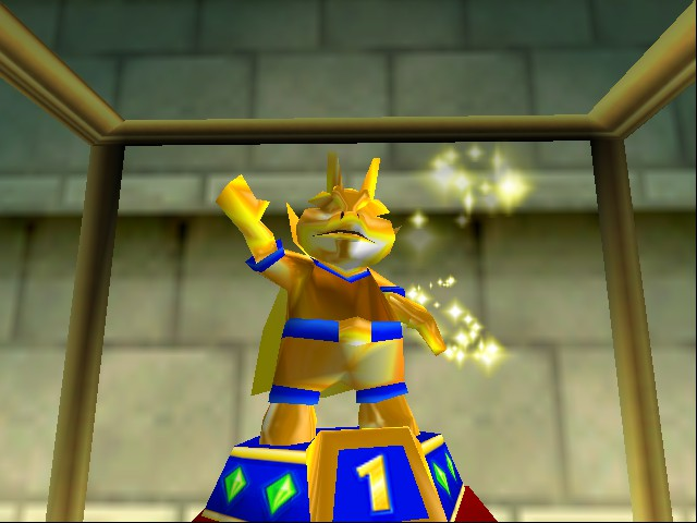 Diddy Kong Racing - Cut-Scene  - Trophy Race Statue - User Screenshot