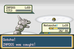 Pokemon Fire Red - Battle  - Second Ultra Ball! Heck yeah. - User Screenshot
