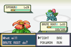 Pokemon Fire Red - Battle  - Bow down to your king, Ivysaur! - User Screenshot